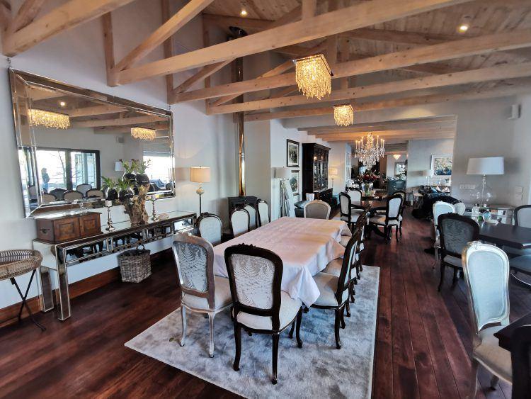 Dining room at Tintswalo Atlantic