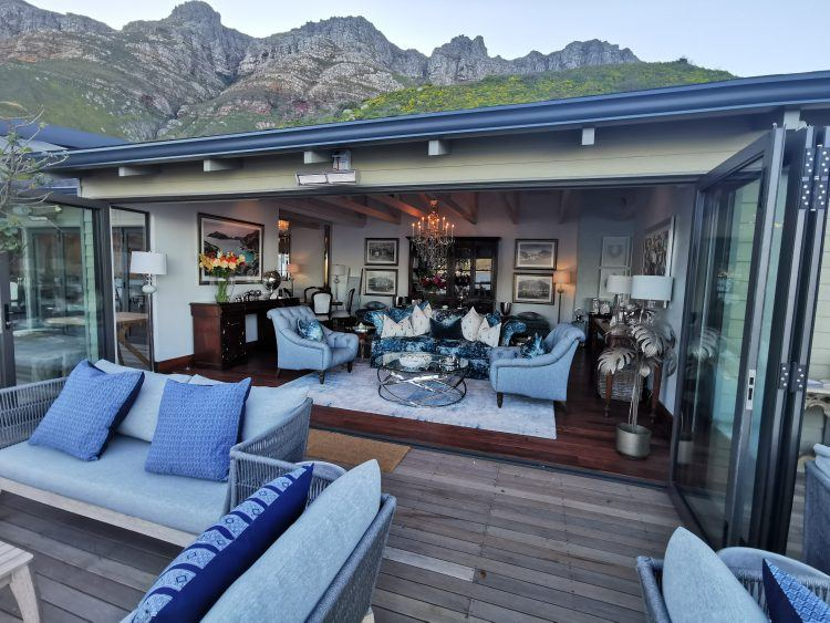 Tintswalo Atlantic main lodge set against Chapman's Peak in Hout Bay