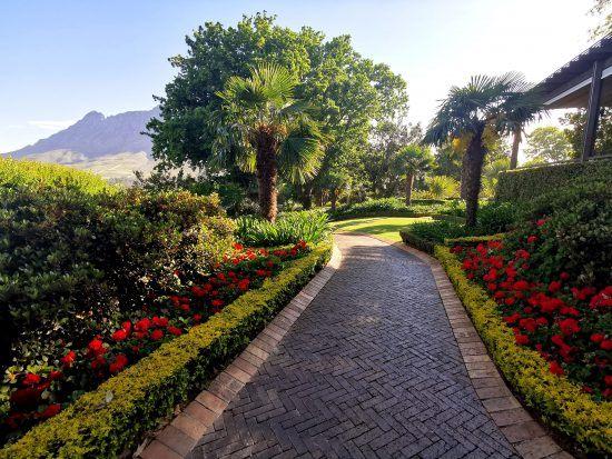 Gardens at Delaire Graff Estate in the Stellenbosch Winelands