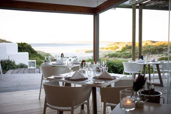 Leeto Restaurant's expansive views of the Paternoster coastline.