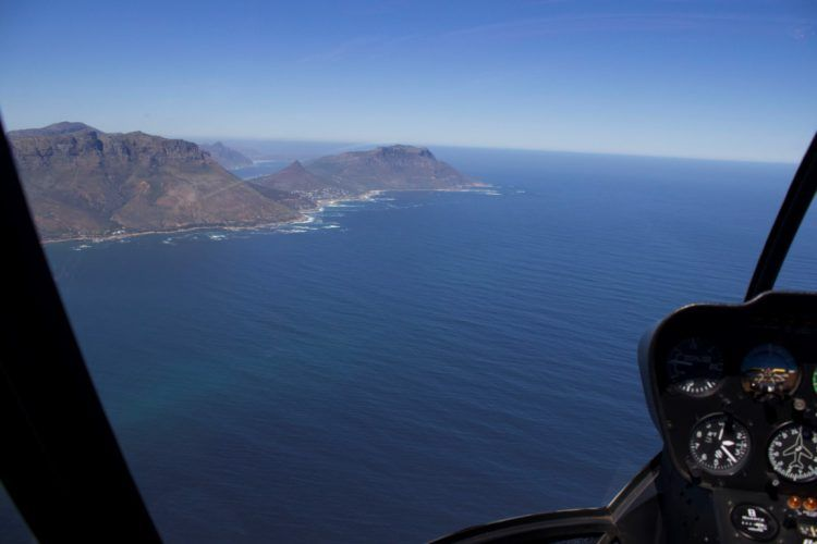 NAC helicopter flight over the Atlantic Ocean, Cape Town