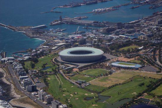 Das Stadion von Kapstadt von oben