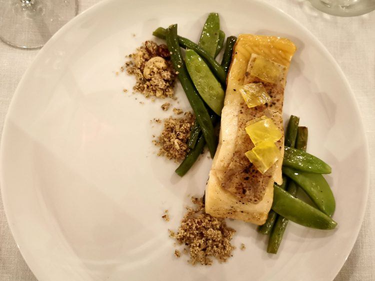 Salmon dish for dinner at the Cederberg Ridge WIlderness Lodge Restaurant
