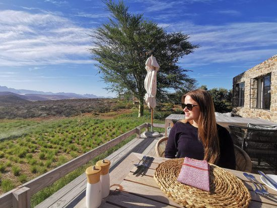 Breakfast with a view at Cederberg Ridge Wilderness Lodge