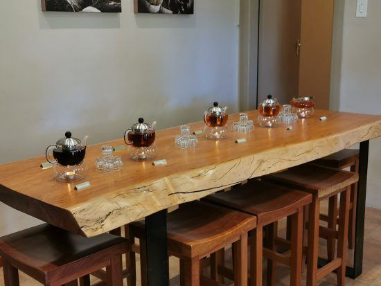 Tea tasting at the Skimmelberg Farm, Cederberg
