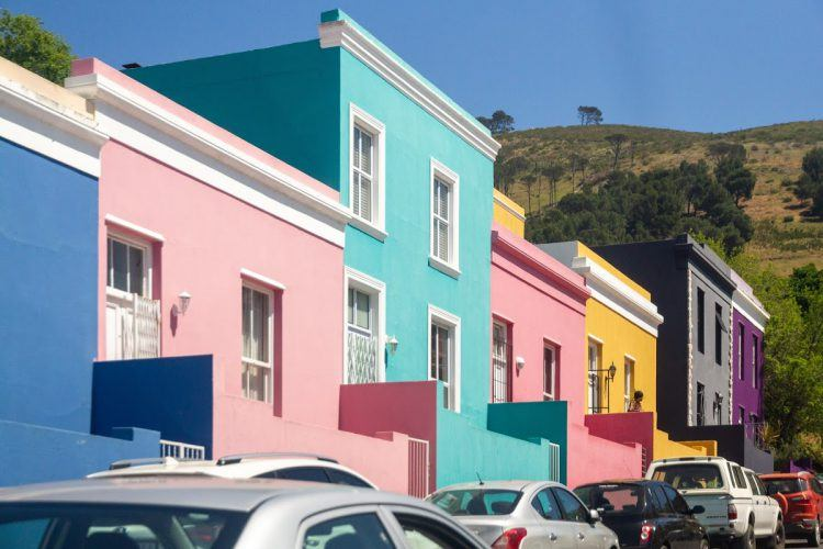 Bo-Kaap's famous vibrant houses in Cape Town