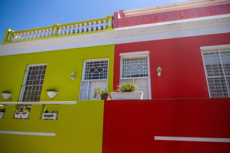Bo-Kaap's colourful houses in Cape Town