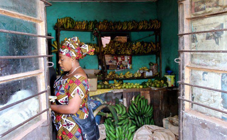 Corner shop in Rwanda's Capital City, Kigali