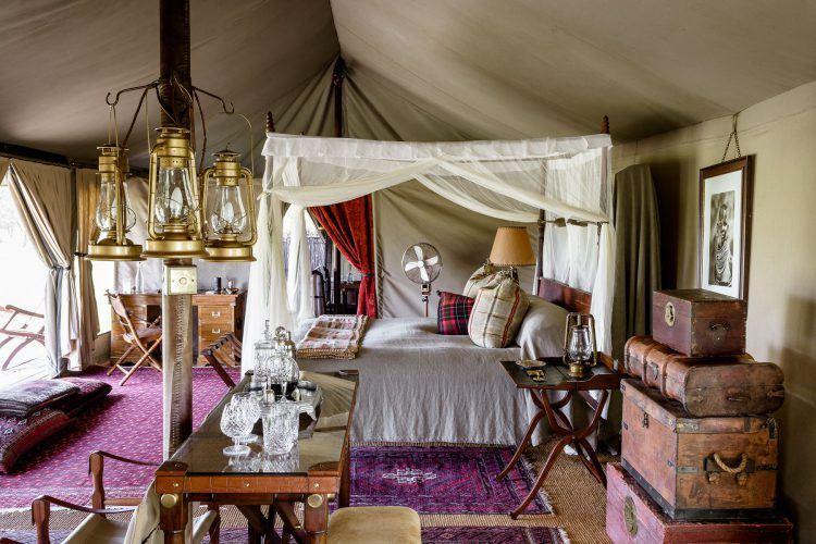 Serengeti Sabora Tented Camp Room in Kenya