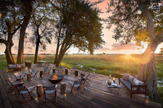 Duba Plains Camp in the Okavango Delta