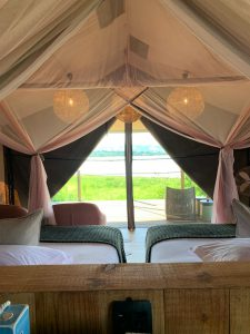Luxury tent at Magashi Camp in Rwanda