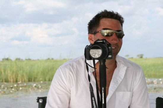 David Ryan, CEO & founder of Rhino Africa, on a photo safari