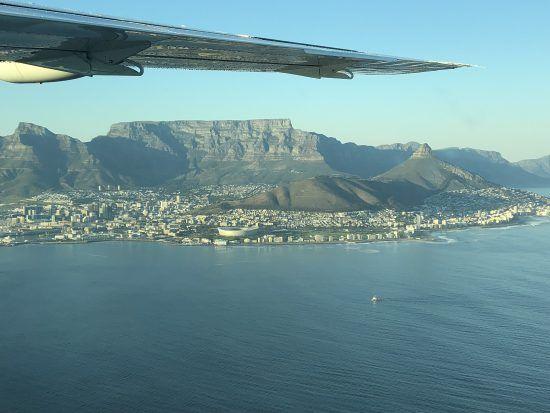 Kapstadt vom Flugzeug aus