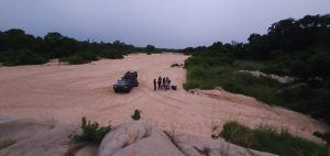 River sundowner in Sabi Sand
