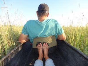 Mokoro ride through the Okavango Delta with Daniela