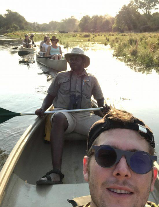 Carl canoe safari in Zambia