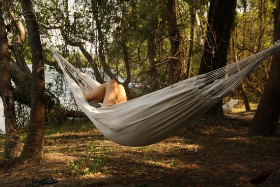 The Luxury of Privacy: Relaxing in a hammock