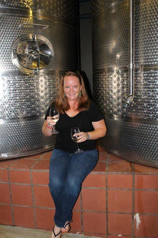Sam tasting wine in the Cape Winelands