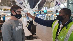 Temperature check at Cape Town International's