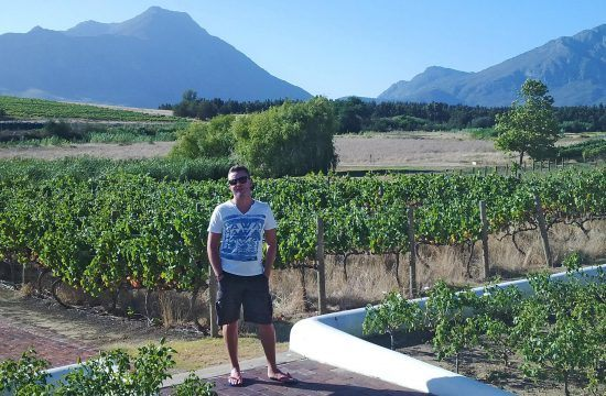 Ian in the Cape Winelands