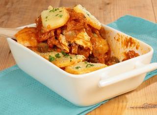 Salanka con patate bollite