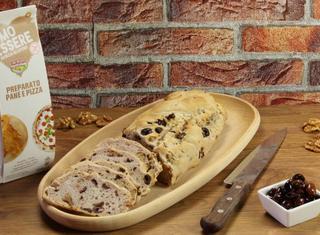 Pane senza glutine con olive e noci