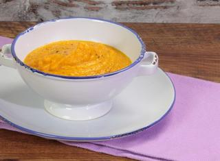 Zuppa di carote arrostite