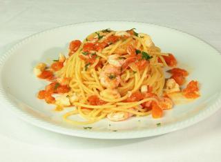 Ricetta: spaghetti con gamberi