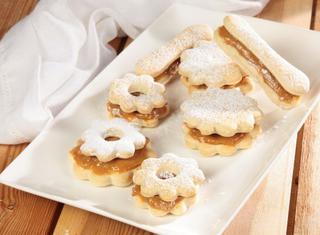 Alfayores biscotti ripieni di dulce de leche peruviani