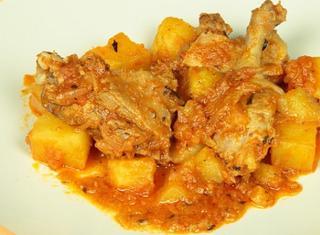 Anatra in umido con patate
