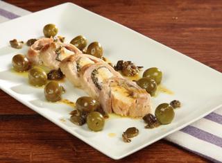 Coniglio con capperi e olive