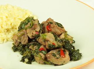 Korme-i-Sabzee stufato di carne e spinaci afghano