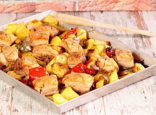 Pancetta con patate e peperoni