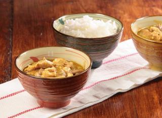 Pollo al curry verde con melanzane