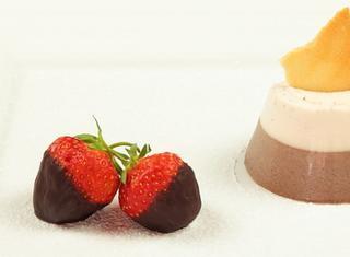 Panna cotta panna fragola e cioccolata