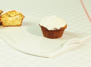 Muffins con glassa al formaggio fresco