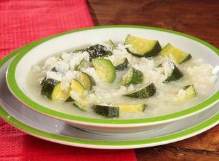 Minestra riso e zucchini