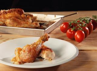Pollo arrosto all'aglio