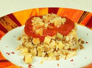 Kushari Lenticchie, riso e pasta