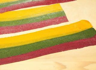 Pasta sfoglia tricolore