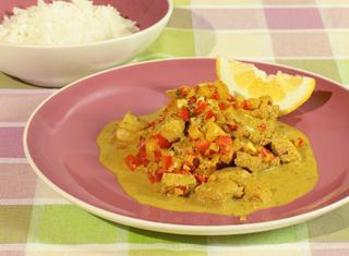 Curry di tacchino, limone e cocco