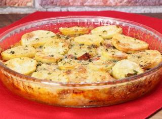 Torta di patate e zucca