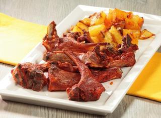 Costolette d'agnello tandoori con patate