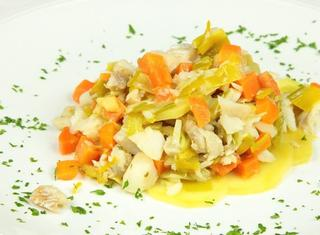 Baccalà con porri e patate
