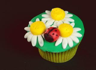 Cupcake margherita con coccinella