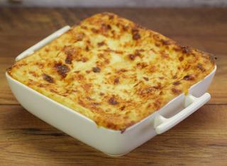 Lasagne con zucca e porri