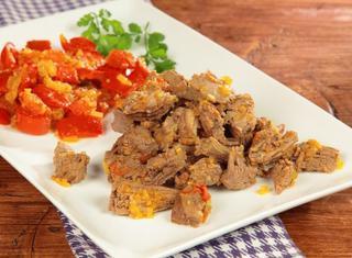 Stufato di carne Carne mechada a la criolla