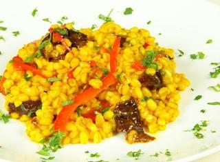 Orzo alle prugne
