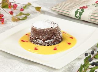 Tortino al cioccolato cuor di fragola