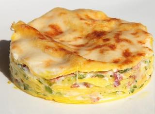 Lasagne zucchine, speck e provola affumicata